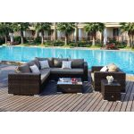 Moonlight Living loungegruppe i brunmix polyrattan