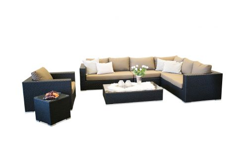 Moonlight Dream sofagruppe i sort polyrattan